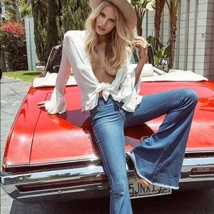 Betty Big Bell Bottom Denim Jeans Wide Flare